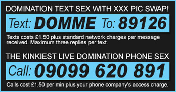 domination phone sex and text sex