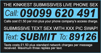 submissive phone sex and text sex